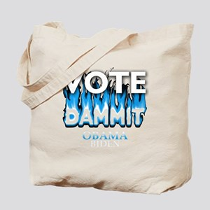 Vote Dammit - Obama Biden w/ clear backgr Tote Bag